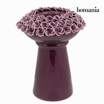 Candle holder with purple roses - Enchanted Forest Collection by Homania