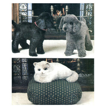 "80s STUFFED DOG & CAT Toy Pattern 20.5"" Large Dog, 15"" Cat Vogue 8342 539 Vogue/Butterick 8342 UNCuT Vintage Craft Sewing Patterns DiY Gifts"