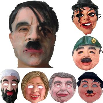 Adult Halloween Masks Celebrity Man Face Mask Full Head Breathable Halloween Masquerade Party Latex Ornament Real Simulate Mask