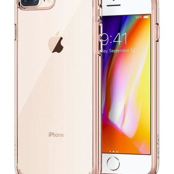 Spigen Ultra Hybrid [2nd Generation] Iphone 7 Plus Case / Iphone 8 Plus Case With Clear Protection And Air Cushion Technology For Iphone 7 Plus (2016) / Iphone 8 Plus (2017)   Rose Crystal