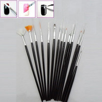 Professional 15 pcs Easy Handle Nail Art Design Brush Set Painting Pen = 1706039876