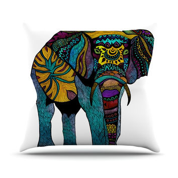 "Pom Graphic Design ""Elephant of Namibia"" Outdoor Throw Pillow"