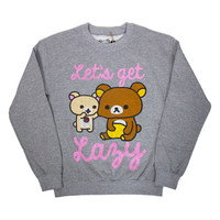 "Rilakkuma ""Let's Get Lazy"" Grey Sweatshirt"