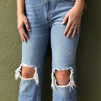 Free People Light Wash Maggie Jean
