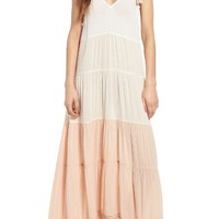 Sun & Shadow Colorblock Maxi Dress | Nordstrom
