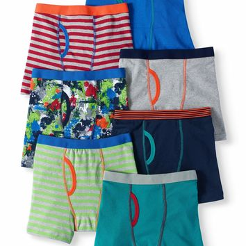 Boys Striped Boxer Briefs, 7 Pack