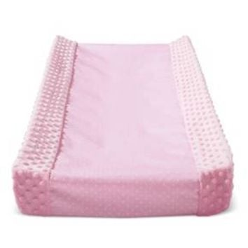 Wipeable Changing Pad Cover with Plush Sides Dots - Cloud Island™ - Pink