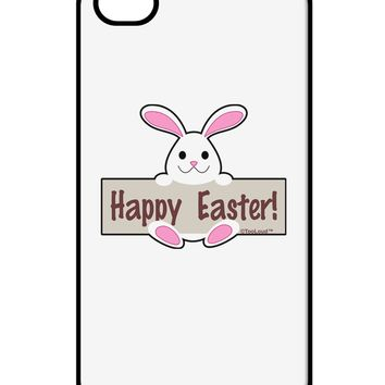 Cute Bunny - Happy Easter iPhone 4 / 4S Case  by TooLoud