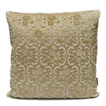Luxury decorative Pillow 18x18, cut velvet , cushion cover, shabby chic, designer pillow, couch pillow, vintage fabric, throw pillow
