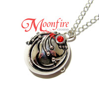 THE VAMPIRE JOURNALS Elena's Vervain Locket Pocket Watch Necklace