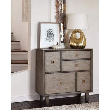 Sophisticated Wooden Accent Cabinet, Gray By Coaster