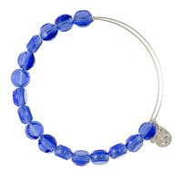 Alex and Ani Sapphire Luxe Bead Bangle - Shiny Silver