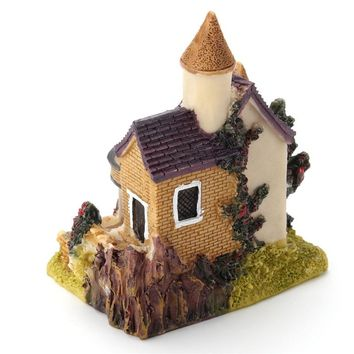 Mini Castle Dollhouse DIY Fairy Garden Micro Landscape Home Decoration Resin Toys Gift For Kids Children