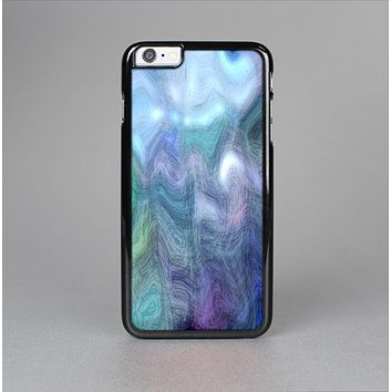 The Vivid Blue Sagging Painted Surface Skin-Sert for the Apple iPhone 6 Skin-Sert Case