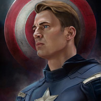 Captain America Art Print by Amanda Thompson