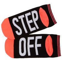 Word Socks - Step Off - Black