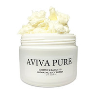Aviva Pure - Whipped Body Butter, Shea Body Butter, Unscented, Dry Skin, Cracked Heels, Moisturizing Body Lotion, Organic, Natural, (200ml)