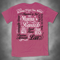 Sweet Thing Funny Mama Mom Mother Rewards Smiles Precious Moments Hugs Pink Girlie Bright T-Shirt