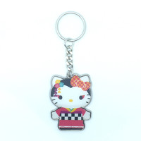 Hello Kitty Geisha Enamel Keychain