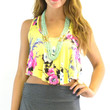 Bay Point Yellow Floral Crop Top