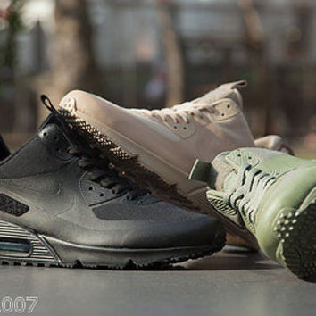 NIKE AIR MAX 90 SNEAKERBOOT PATCH BLACK SAND GREEN SIZE 6-12 LIMITED EDITION NEW