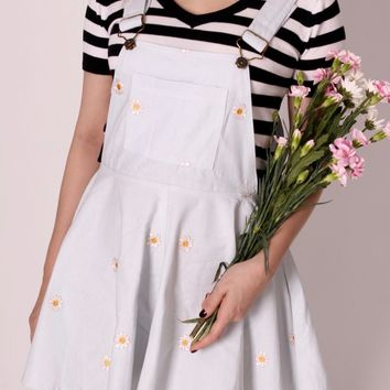Pale Blue Daisy Pinafore