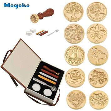 Vintage Style Wax Stamp Sealing Kit With Wax Sticks