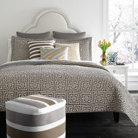 Happy Chic by Jonathan Adler Laura Reversible Quilt - Full / Queen (Brown)