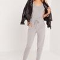 Missguided - Jersey Sleeveless Jumpsuit Grey