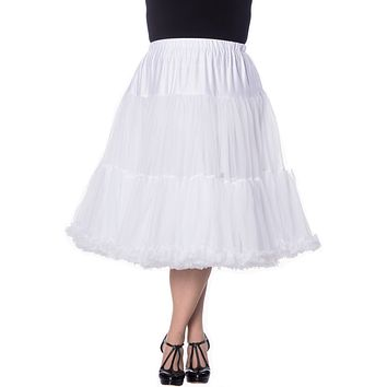 Plus size 60' Rockabilly Swing Dance Bridal Underskirt Super Soft White Petticoat 26""