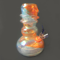 Orange and Blue Iridescent Water Pipe