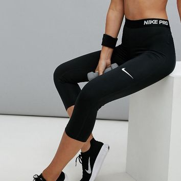 Nike PRO Training Capri Leggings In Black One-nice™