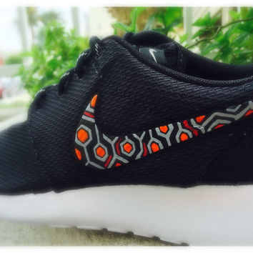 Mens and womens custom Nike roshe inspired by The Shining, REDRUM  the shining movie inspired design, custom nike roshe