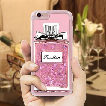 UTOPER Luxury Liquid Quicksand Glitter Case For iPhone 6s Case Silicone Dynamic Perfume Bottle Shell For Apple iPhone 6 Case