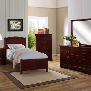 Cherry Twin Panel Bedroom Set