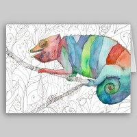 Chameleon Fail Cards from Zazzle.com