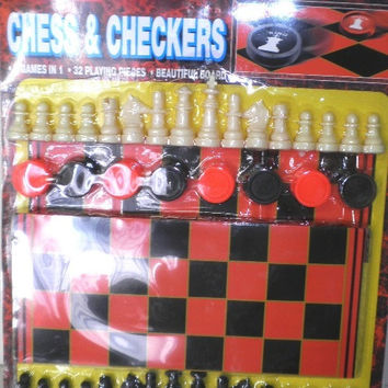 Chess and Checkers Board Game Kit