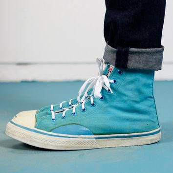 1987 Vision Street Wear Teal Converse Style Sneakers - 11/12