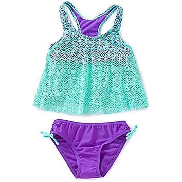 Malibu Dreams 7-16 Crochet Tankini Set | Dillards.com