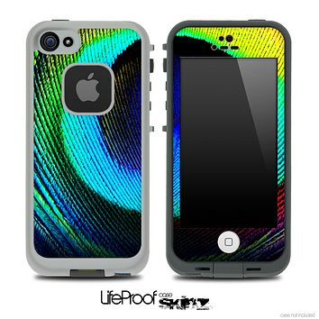 Rainbow Peacock Skin for the iPhone 5 or 4/4s LifeProof Case