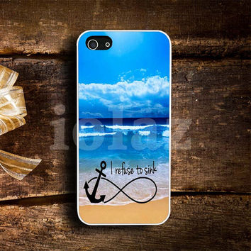 infinity anchor beach Design mobile Phone case