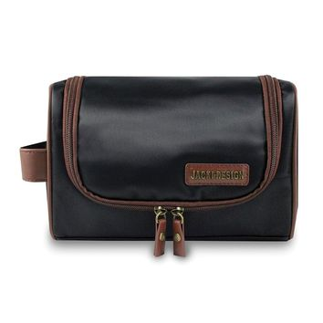 0fdd7a09720a Mens Black brown Toiletry Bag W hanger