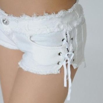CREYUG3 Super shorts queen fashion dance sexy Women's spring and summer sidepiece bands super shorts hot = 1920200324