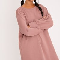 Dark Mauve Oversized Sweater Dress