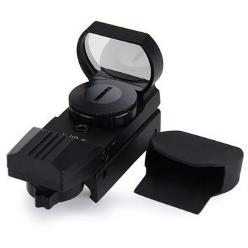 Hot 11 /20 mm Rail Riflescope Hunting Airsoft Optics Scope Holographic Red Dot Sight Reflex 4 Reticle Tactical Gun Accessories