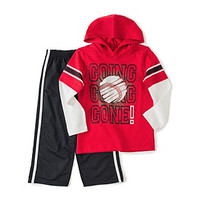 Kids Headquarters® Baby Boys' Baseball Tee and Tricot Pants Set at www.bostonstore.com
