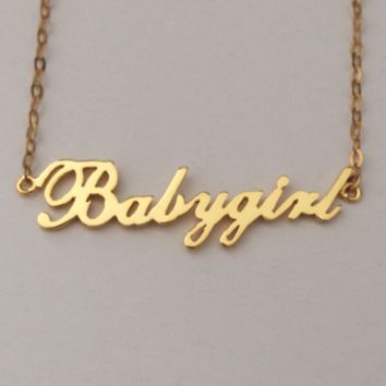 Babygirl Necklace - Harlow Rose