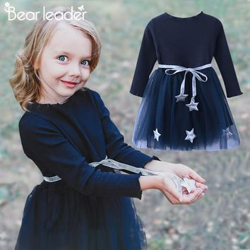 Bear Leader Girls Dress Pentagram Princess Dress Brand Girls Clo f70f22495