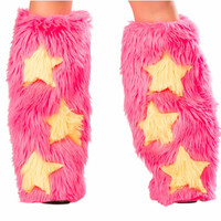 Pink & Yellow Star Fluffies