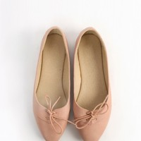 Pointy Pastel Lace Up Leatherette Oxfords | MakeMeChic.com
